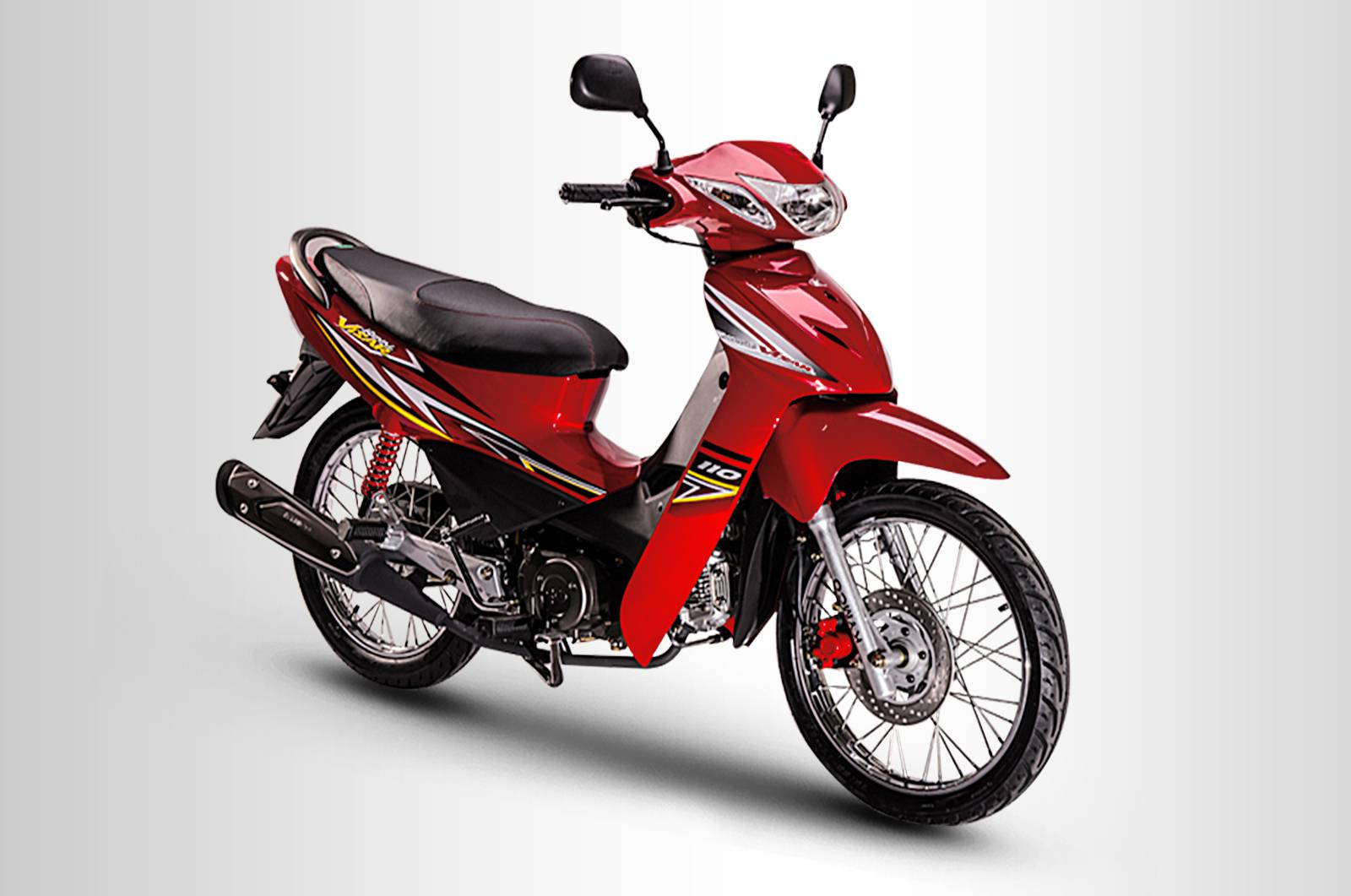 Kymco visa r 110 royal spoke red