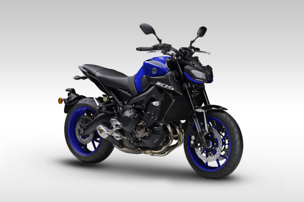 Yamaha mt09 blue